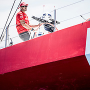 © María Muiña I MAPFRE: El MAPFRE sale de Sanxenxo rumbo a Cowes (Inglaterra) para participar en la Fasnet  para la etapa 0 de la Volvo Ocean Race. MAPFRE leaves Sansenxo towards Cowes to participate at the Fasnet Race for Leg 0 of the Volvo Ocean Race.