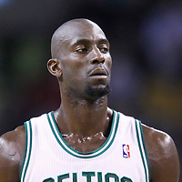 01 April 2012: Boston Celtics power forward Kevin Garnett (5) is seen during the Boston Celtics 91-72 victory over the Miami Heat at the TD Banknorth Garden, Boston, Massachusetts, USA. NOTE TO USER: User expressly acknowledges and agrees that, by downloading and or using this photograph, User is consenting to the terms and conditions of the Getty Images License Agreement. Mandatory Credit: 2012 NBAE (Photo by Chris Elise/NBAE via Getty Images)