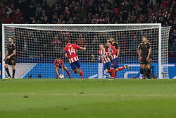 November 22, 2017 - Madrid, Madrid, Spain - Griezman celebrates his goal..during Atletico de Madrid won by 2 to 0 whit goals of Griezmann and Gameiro against Roma. (Credit Image: © Jorge Gonzalez/Pacific Press via ZUMA Wire)