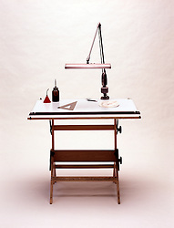 old style drafting draftsman table