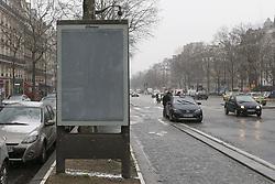 February 6, 2018 - Paris, France - JC Decaux va devoir demonter 1630 panneaux publicitaires a Paris (Credit Image: © Panoramic via ZUMA Press)
