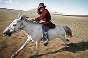Amur Turchin goes looking for his yak herd. Near Moron town, Khövsgöl province.