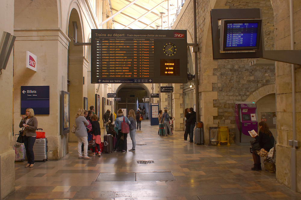 Southern France Railroad Station, Nimes, France, Waiting Area