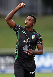Mthokozisi Shezi of Hollywoodbets Dolphins during the T20 Challenge cricket match between the Hollywoodbets Dolphins and VKB Knights  at the Kingsmead stadium in Durban, KwaZulu Natal, South Africa on the 11 Dec 2016<br /> <br /> Photo by:   Steve Haag / Real Time Images