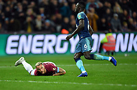 Football - 2018 / 2019 EFL Carabao (League) Cup - Fourth Round: West Ham United vs. Tottenham Hotspur<br /> <br /> West Ham United's Marko Arnautovic looks to see if he has been awarded a free kick, at the London Stadium<br /> <br /> COLORSPORT/ASHLEY WESTERN