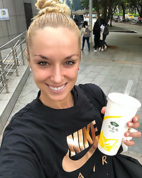 """Sabine Lisicki releases a photo on Instagram with the following caption: """"Bubble Milk Tea after my win today \ud83e\udd64\u263a\ufe0f #happy #bubbletea #youvegottatryitwhenhere #taipei"""". Photo Credit: Instagram *** No USA Distribution *** For Editorial Use Only *** Not to be Published in Books or Photo Books ***  Please note: Fees charged by the agency are for the agency's services only, and do not, nor are they intended to, convey to the user any ownership of Copyright or License in the material. The agency does not claim any ownership including but not limited to Copyright or License in the attached material. By publishing this material you expressly agree to indemnify and to hold the agency and its directors, shareholders and employees harmless from any loss, claims, damages, demands, expenses (including legal fees), or any causes of action or allegation against the agency arising out of or connected in any way with publication of the material."""