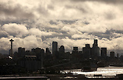 A storm passes through downtown Seattle.<br />