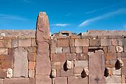 Bolivia. June 2013. Tiwanaco, which was the capital of a pre-Hispanic empire.