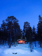 Authentic Log Cabin in national park, Lapland, Finalnd.