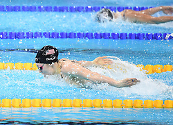 HANGZHOU, Dec. 16, 2018  Kelsi Dahlia of the United States competes during Women's 100m Butterfly Final at 14th FINA World Swimming Championships (25m) in Hangzhou, east China's Zhejiang Province, on Dec. 16, 2018. Kelsi Dahlia claimed the title with 55.01. (Credit Image: © Xinhua via ZUMA Wire)
