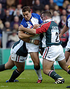 Leicester, England UK., 9th October 2004,  Zurich Premiership Rugby, Leicester Tigers vs Bath Rugby, Welford Road,<br /> [Mandatory Credit: Peter Spurrier/Intersport Images],<br /> Olly Barkley