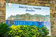 Marina map at the Riomaggiore train station, Cinque Terre, Liguria, Italy