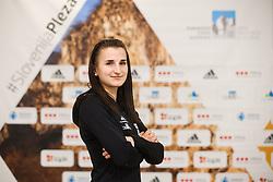 Lana Skusek at press conference of Slovenian National Climbing team before new season, on March 23, 2021 in Bolder Scena, Ljubljana, Slovenia. Photo by Vid Ponikvar / Sportida