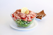 Israeli Salad Tomato and Cucumber with Tuna fish