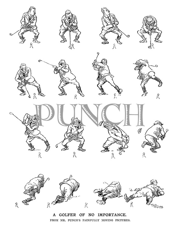 A Golfer of No Importance. From Mr. Punch's painfully moving pictures.