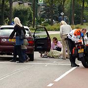 Ongeval Gemeenlandslaan Huizen, voetgangster door auto aangereden oversteekplaats