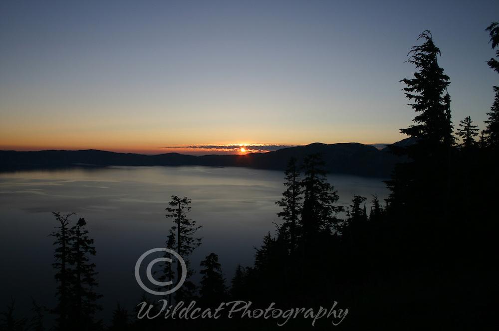Sunset at Crater Lake
