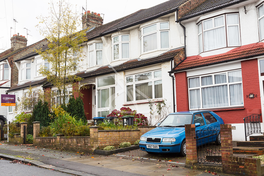 The Evesham Road home of 98 year-old pensioner Peter Gouldstone who was attacked in his home and is now fighting for his life in hospital. London, November 07 2018.