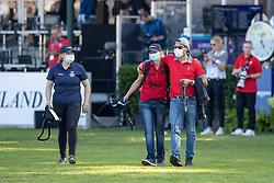 Grooms, Madelene Nord, Suzanne Schlimpert, Sean Vard<br /> European Championship Riesenbeck 2021<br /> © Hippo Foto - Dirk Caremans<br /> 05/09/2021