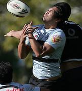 Patrick Ah Van in action. Warriors training. Ellerslie Domain, Auckland, New Zealand. Wednesday 8 August 2007. Hagen Hopkins/PHOTOSPORT