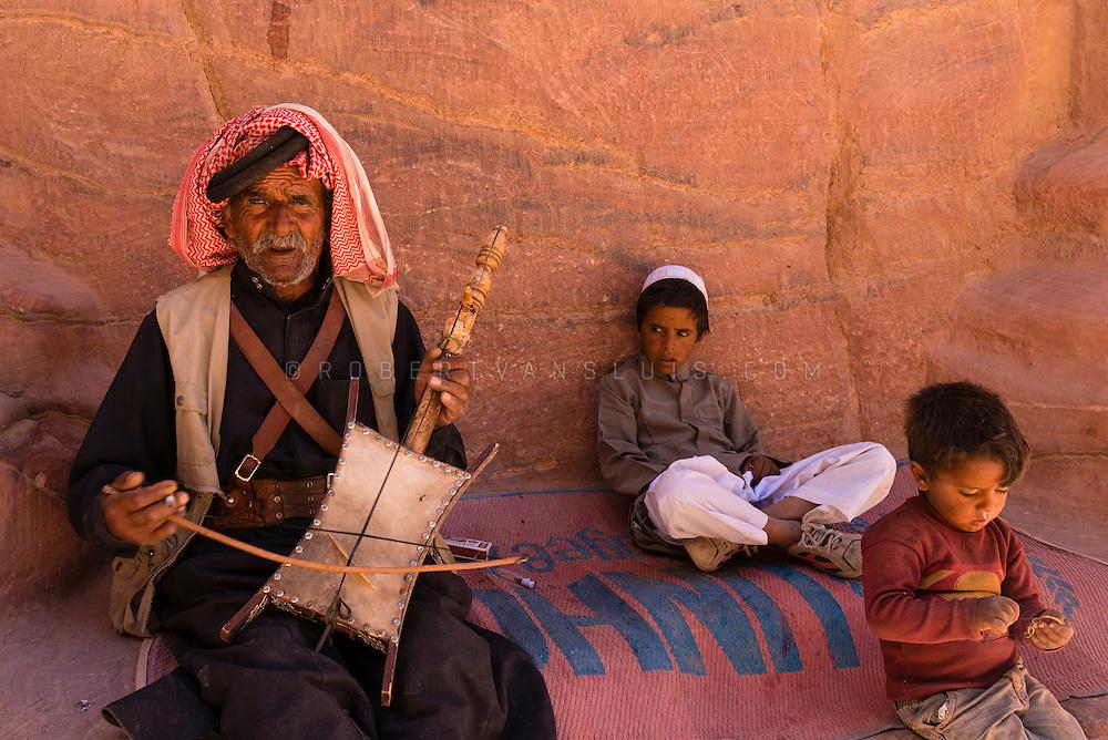 Bedouin musician at Petra, Jordan. Photo © Robert van Sluis