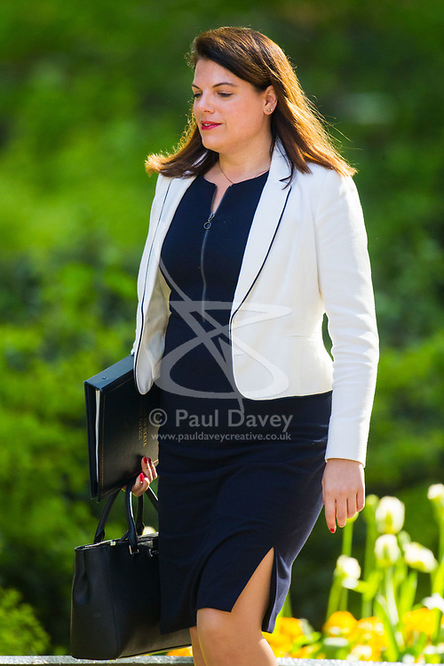 Caroline Noakes arrives at 10 Downing Street to attend the weekly cabinet meeting.