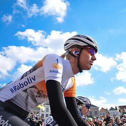 05-04-2015: Wielrennen: Ronde van Vlaanderen vrouwen: Belgie<br /> OUDENAARDE (BEL) cycling<br /> The 3th race in the UCI womens World Cup is the 12th edition of the Ronde van Vlaanderen. The race distance is 145 km with 12 Climbs and 5 zones of Cobbles.<br /> Moniek Tenniglo