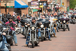 Main Street in Deadwood during the annual Sturgis Black Hills Motorcycle Rally. Deadwood, SD, USA. Monday August 7, 2017.  Photography ©2017 Michael Lichter.