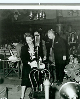 1943 Bette Davis & Leopold Stowkowski at the Hollywood Canteen
