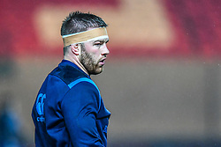 Leinster's Sean O'Brien during the pre match warm up<br /> <br /> Photographer Craig Thomas/Replay Images<br /> <br /> Guinness PRO14 Round 17 - Scarlets v Leinster - Friday 9th March 2018 - Parc Y Scarlets - Llanelli<br /> <br /> World Copyright © Replay Images . All rights reserved. info@replayimages.co.uk - http://replayimages.co.uk