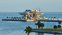St. Petersburg Pier. Daytime view from a balcony at the Historic Vinoy Hotel. Image taken with a Nikon D3x camera and 80-400 mm VR lens (ISO 250, 210 mm, f/8, 1/60 sec)