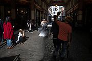 Bridal fashion shoot in Leadenhall Market in London, United Kingdom.