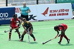 Farah fredericks  during the women's hockey match of the The Commonwealth Games between South Africa and Trinidad and Tobago held at the Stadium in New Delhi, India on the  October 2010..Photo by:  Ron Gaunt/SPORTZPICS/PHOTOSPORT