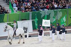 Team KSA - Opening Ceremony - Alltech FEI World Equestrian Games™ 2014 - Normandy, France.<br /> © Hippo Foto Team - Jon Stroud<br /> 24/06/14