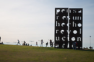 At Memorial Park, along the Rio de la Plata, one of the many works of art Theme