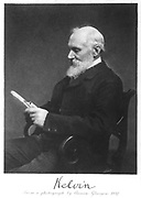 William Thomson, Lord Kelvin (1824-1907), Scottish mathematician and physicist. From photograph taken in 1897