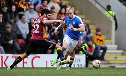 Marcus Maddison of Peterborough United takes on Nat Knight-Percival of Bradford City - Mandatory by-line: Joe Dent/JMP - 04/03/2017 - FOOTBALL - Coral Windows Stadium - Bradford, England - Bradford City v Peterborough United - Sky Bet League One