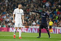Real Madrid´s Cristiano Ronaldo (L) and Malmo´s Pa Konate during 2015/16 Champions League soccer match between Real Madrid and Malmo at Santiago Bernabeu stadium in Madrid, Spain. December 08, 2014. (ALTERPHOTOS/Victor Blanco)