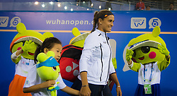 September 26, 2018 - Monica Puig of Puerto Rico walks onto center court for her third-round match at the 2018 Dongfeng Motor Wuhan Open WTA Premier 5 tennis tournament (Credit Image: © AFP7 via ZUMA Wire)