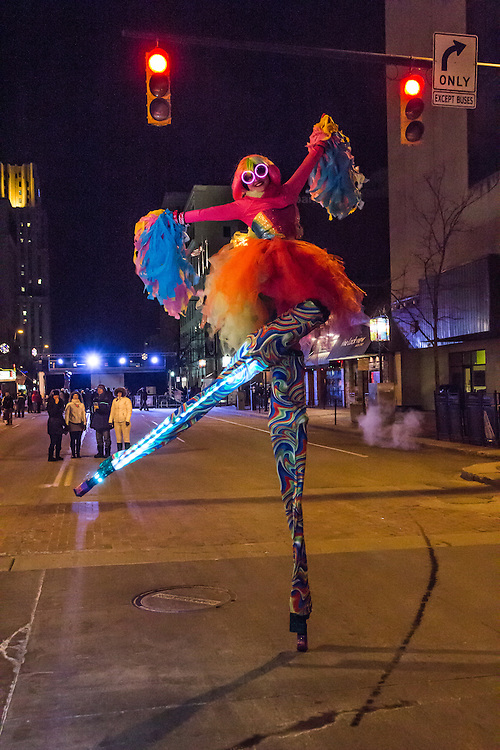 Pick Up Stix on Main Street at First Night Akron 2015