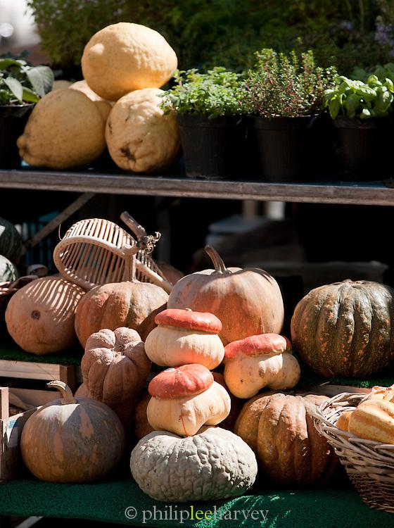 Vegetable market stall, Rome, Italy.