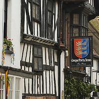 Medieval buildings in hastings Old Town, East Sussex, England