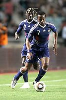 FOOTBALL - FRIENDLY GAME 2010 - TUNISIA v FRANCE - 30/05/2010 - PHOTO ERIC BRETAGNON / DPPI - SIDNEY GOVOU (FRA) / BAKARY SAGNA (FRA)