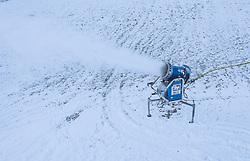 THEMENBILD - eine Schneekanone in Betrieb, aufgenommen am 30. November 2018 in Kaprun, Österreich // a snow making machine, Kaprun, Austria on 2018/11/30. EXPA Pictures © 2018, PhotoCredit: EXPA/ JFK
