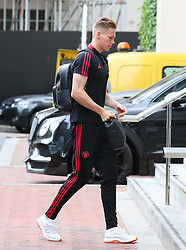Scott McTominay arrive at The Lowry Hotel for the Manchester