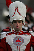 COLUMBUS, OH - November 18:  2006 The Ohio State University Marching Band Drum Major, Stew Kitchen takes the field during pre-game before The Ohio State Buckeyes play The Michigan Wolverines. Credit: Bryan Rinnert