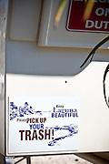 Keep Laguna Beach Beautiful Campaign On The Lifeguard Tower