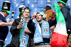 Fans in the stands before the NatWest 6 Nations match at the Stadio Olimpico, Rome.
