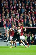 04.09.2015. Copenhagen, Denmark. <br /> Sokol Cikalleshi in action during their UEFA European Champions qualifying round match at the Parken Stadium. <br /> Photo: © Ricardo Ramirez.