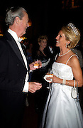 The Duke and Duchess  of Marlborough, Ball at Blenheim Palace in aid of the Red Cross, Woodstock, 26 June 2004. SUPPLIED FOR ONE-TIME USE ONLY-DO NOT ARCHIVE. © Copyright Photograph by Dafydd Jones 66 Stockwell Park Rd. London SW9 0DA Tel 020 7733 0108 www.dafjones.com